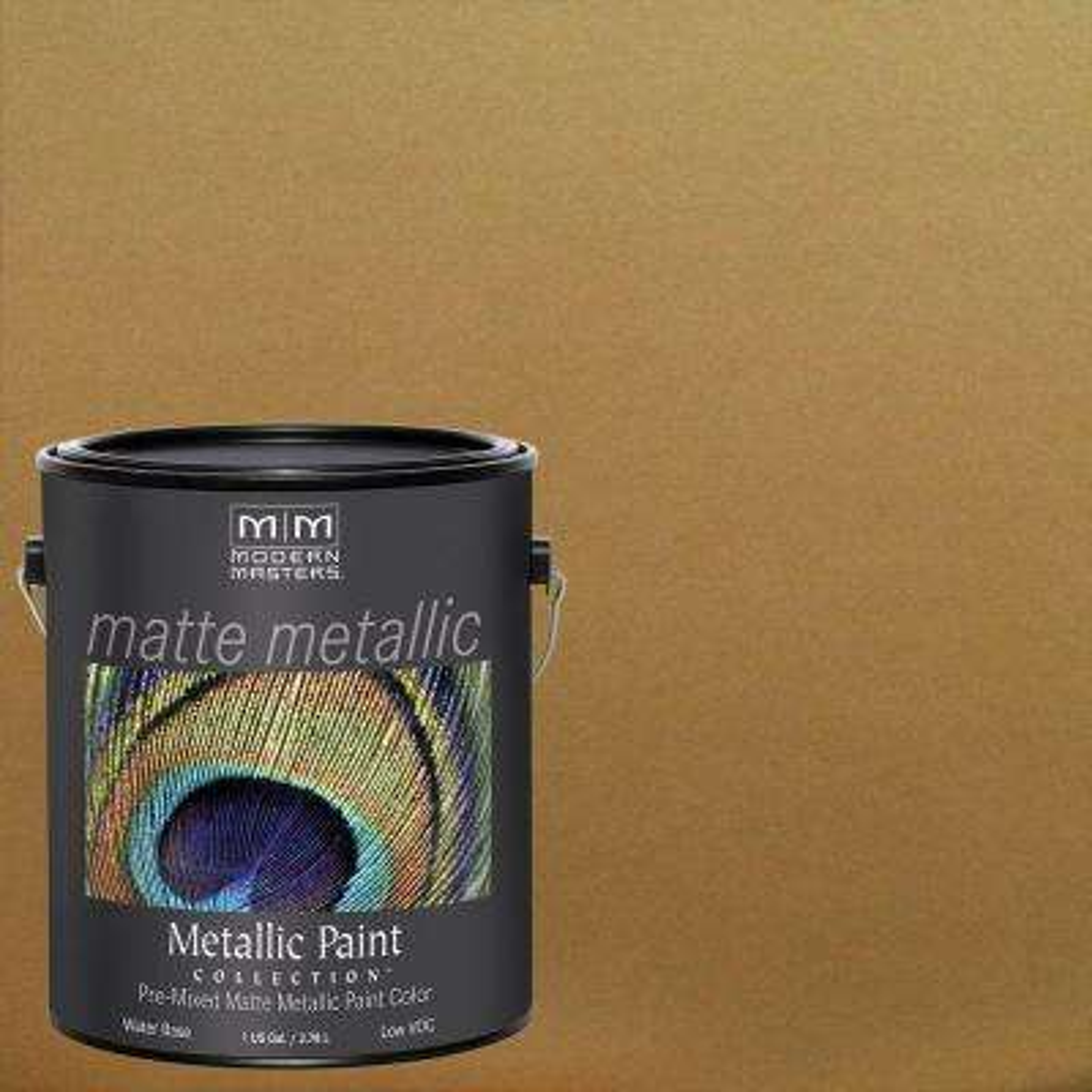 1 gal. Brass Water-Based Matte Metallic Interior Paint