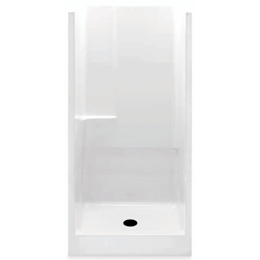 Aquatic 36 in. x 36 in. x 72 in. Gelcoat Remodeline Sectional 2-piece Shower Stall in White