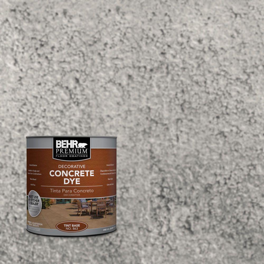 Behr premium 1 qt cd 824 greystone concrete dye 86304 the home depot - Cd concreet ...