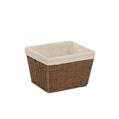 12 in. x 8 in. Brown Parchment Cord Tote Basket