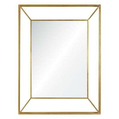 Wilton 40 in. x 30 in. Framed Wall Mirror