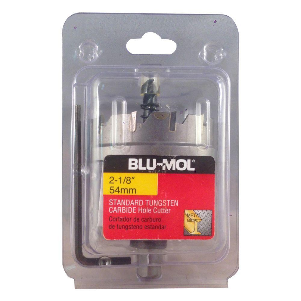 BLU-MOL 2-1/8 inch Standard Tungsten Carbide Hole Cutter by BLU-MOL