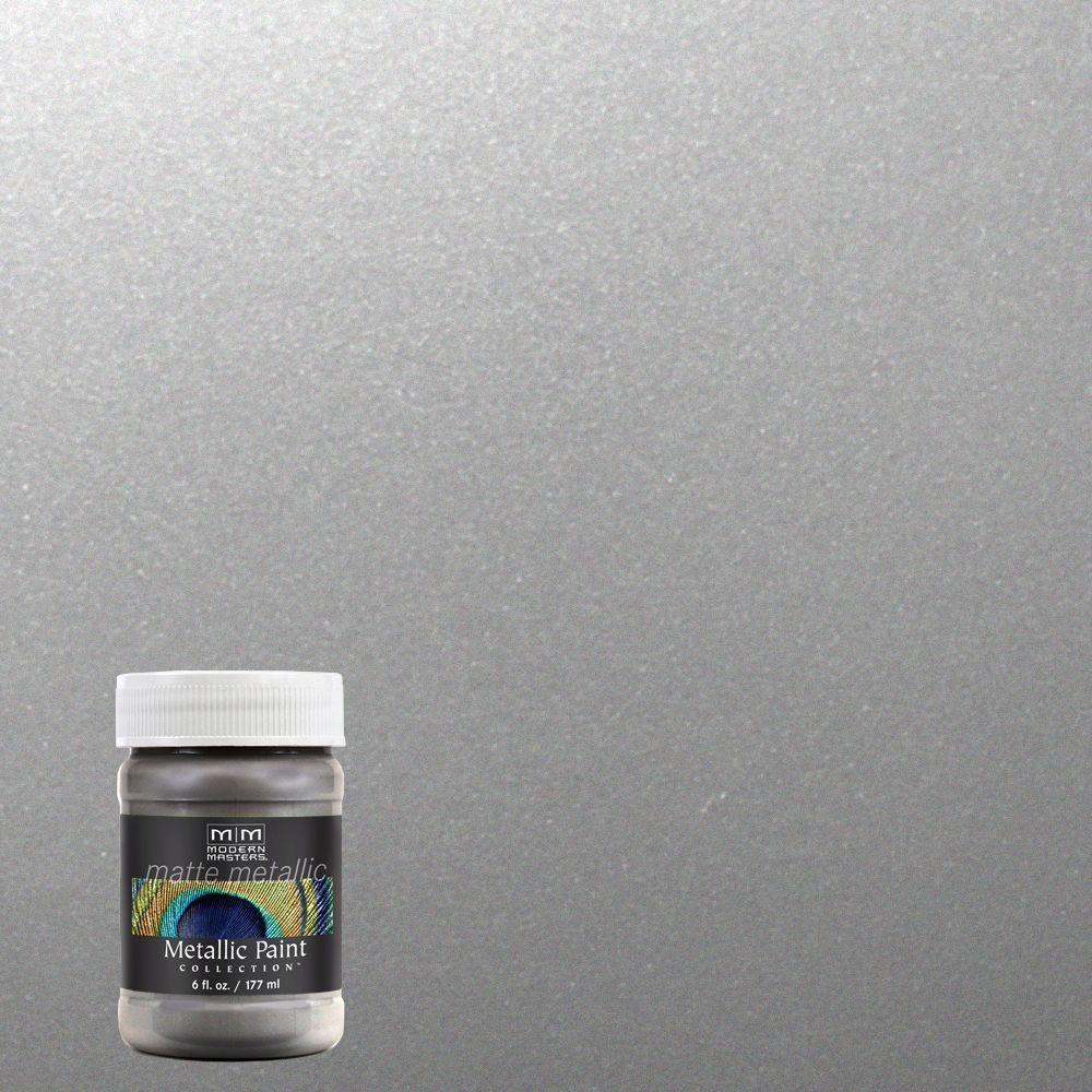 6 oz. Platinum/Silver Matte Metallic Interior Paint