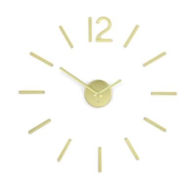 Blink Clock Brass
