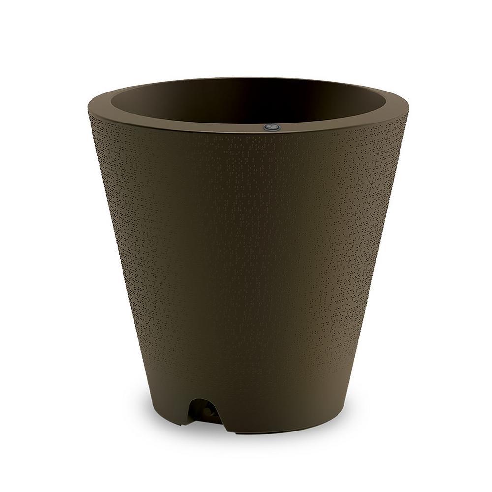 26 in. Old Bronze Indoor/Outdoor Self-Watering Plastic Container
