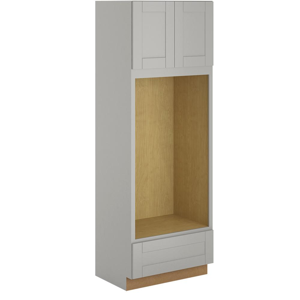 Charmant Hampton Bay Princeton Shaker Assembled 33x96x24 In. Pantry/Utility Double  Oven Cabinet In Warm