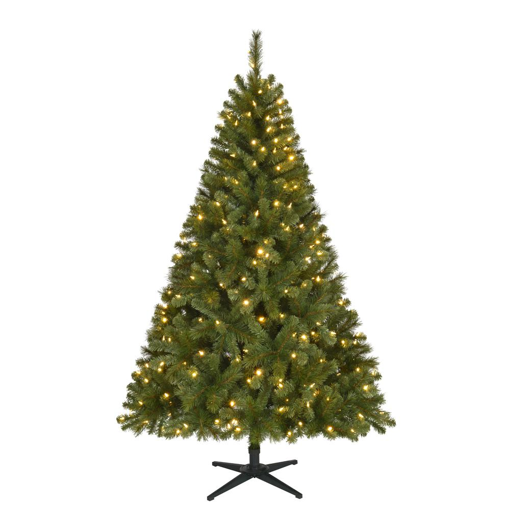Home Accents Holiday 6 5 Ft Pre Lit Led Wesley Spruce Artificial Christmas Tree With 300 Color Changing Lights