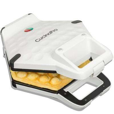 Bubble Waffle Maker in White