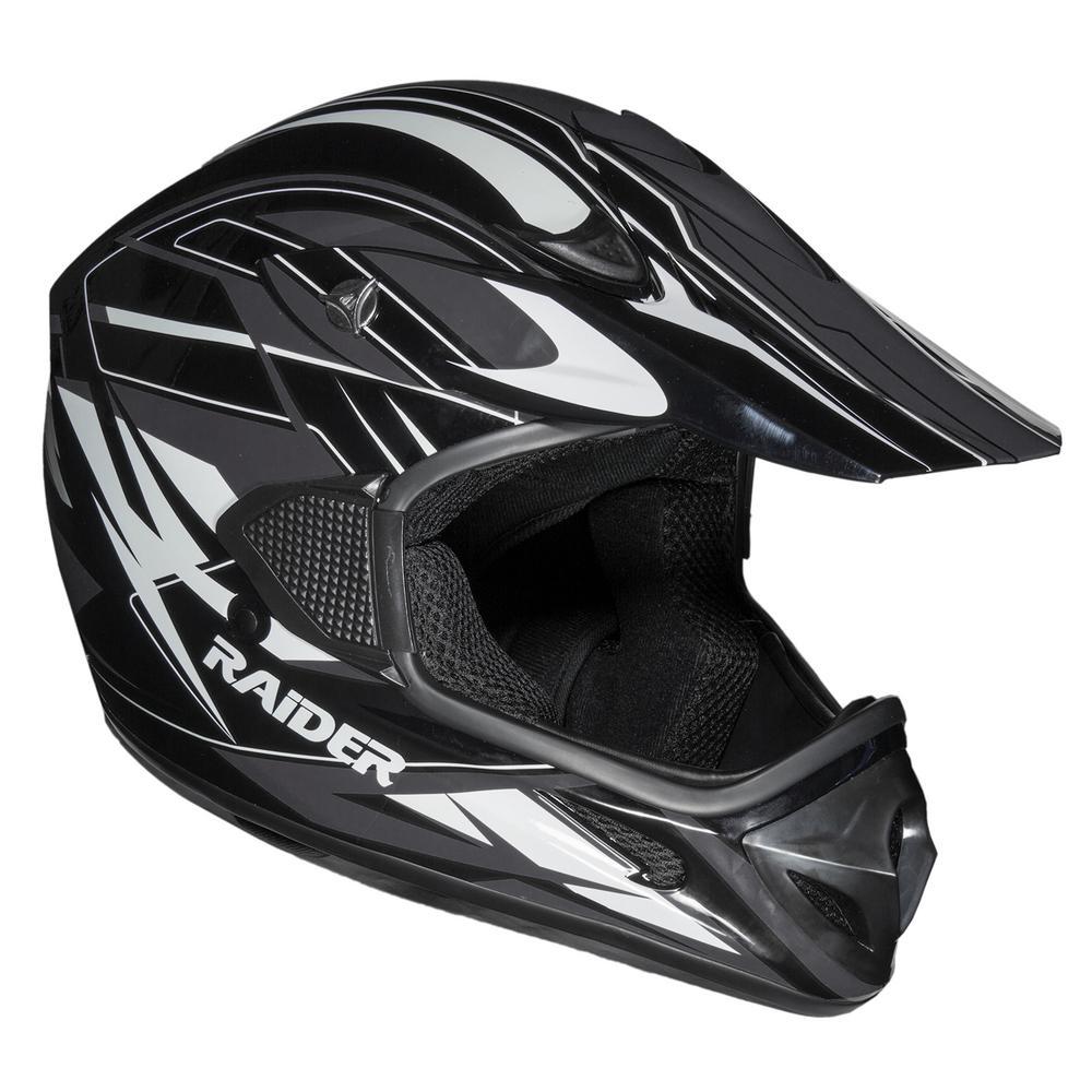 RX1 Medium Black/Silver Adult MX