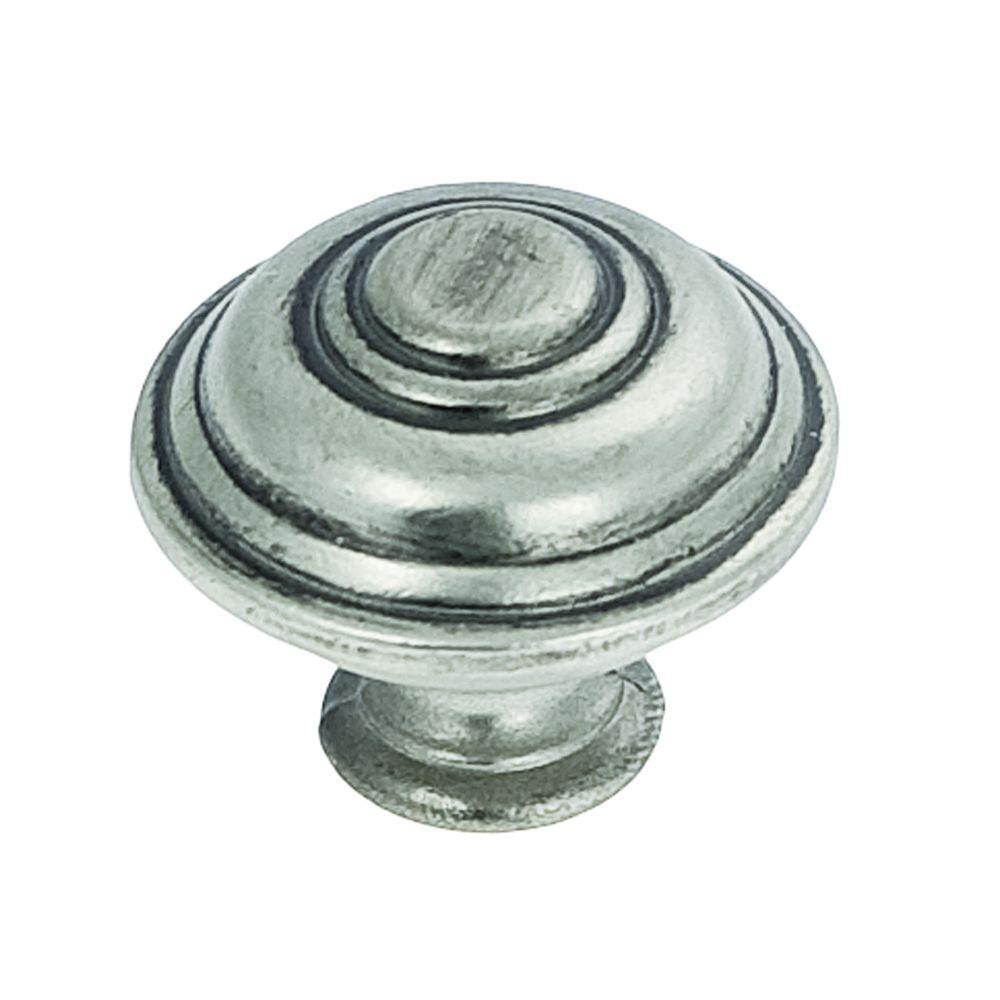 1-1/4 in. Silver Stone Furniture Knob