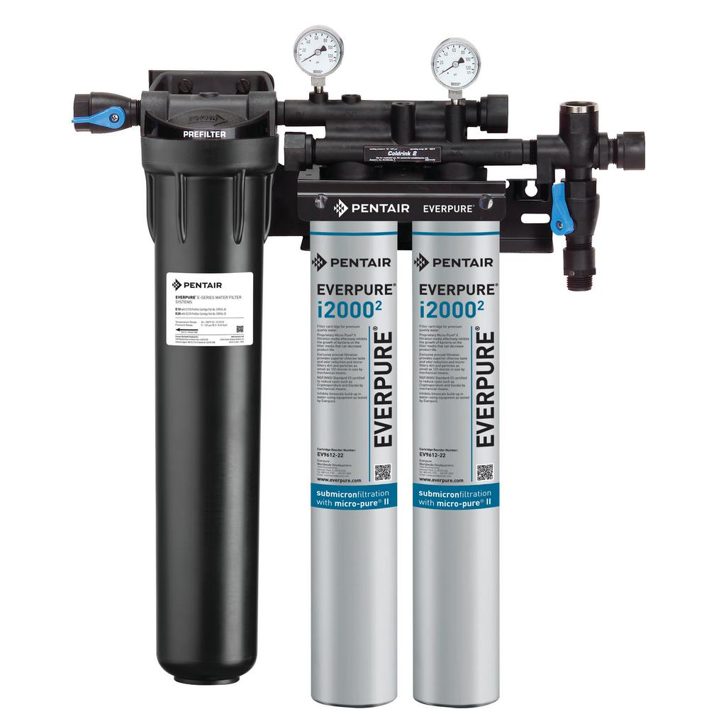Insurice Twin with Pre-Filter Commercial Ice Machine Water Filtration System