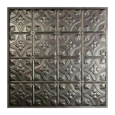 Hamilton 2 ft. x 2 ft. Lay-in Tin Ceiling Tile in Argento