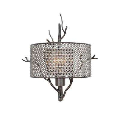 Treefold 1-Light Steel Sconce with Recycled Steel Mesh