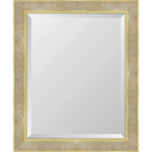 Medium Rectangle Gold Beveled Glass Modern Mirror (28 in. H x 34 in. W)