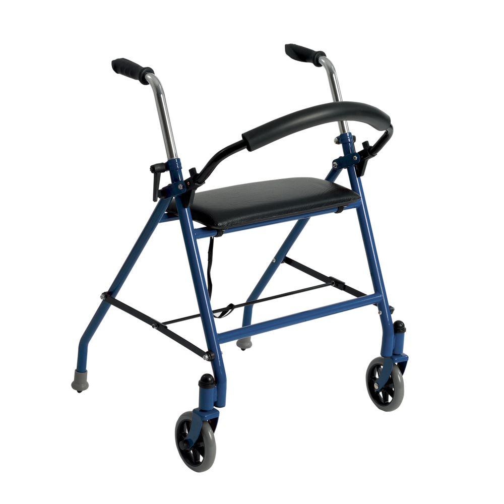 Drive 2 Wheeled Walker With Seat In Blue 1239bl The Home