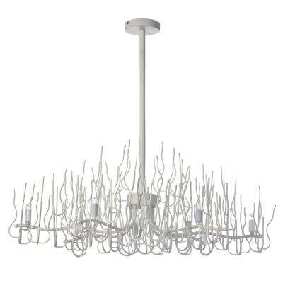 Sparta 8-Light 3.5 in. Matte White Chandelier