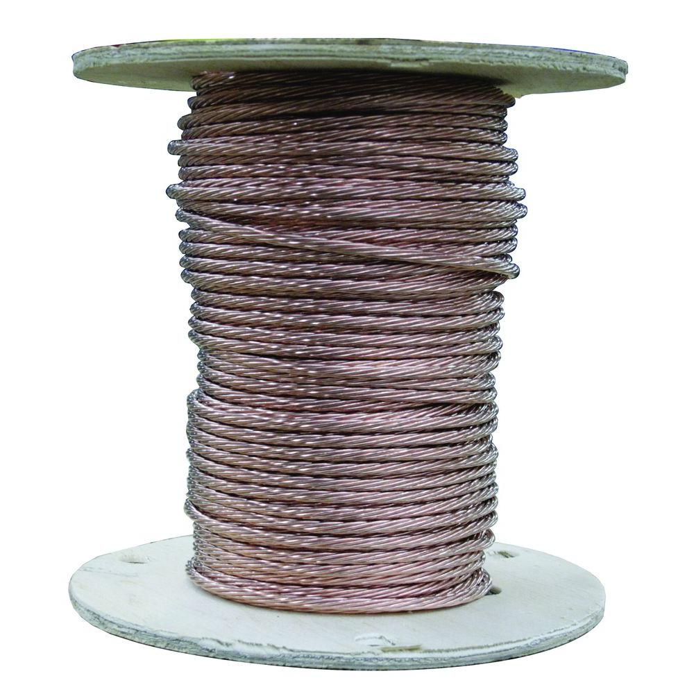 Copper grounding wire wire the home depot 500 ft 18 gauge stranded sd bare copper grounding wire greentooth Image collections