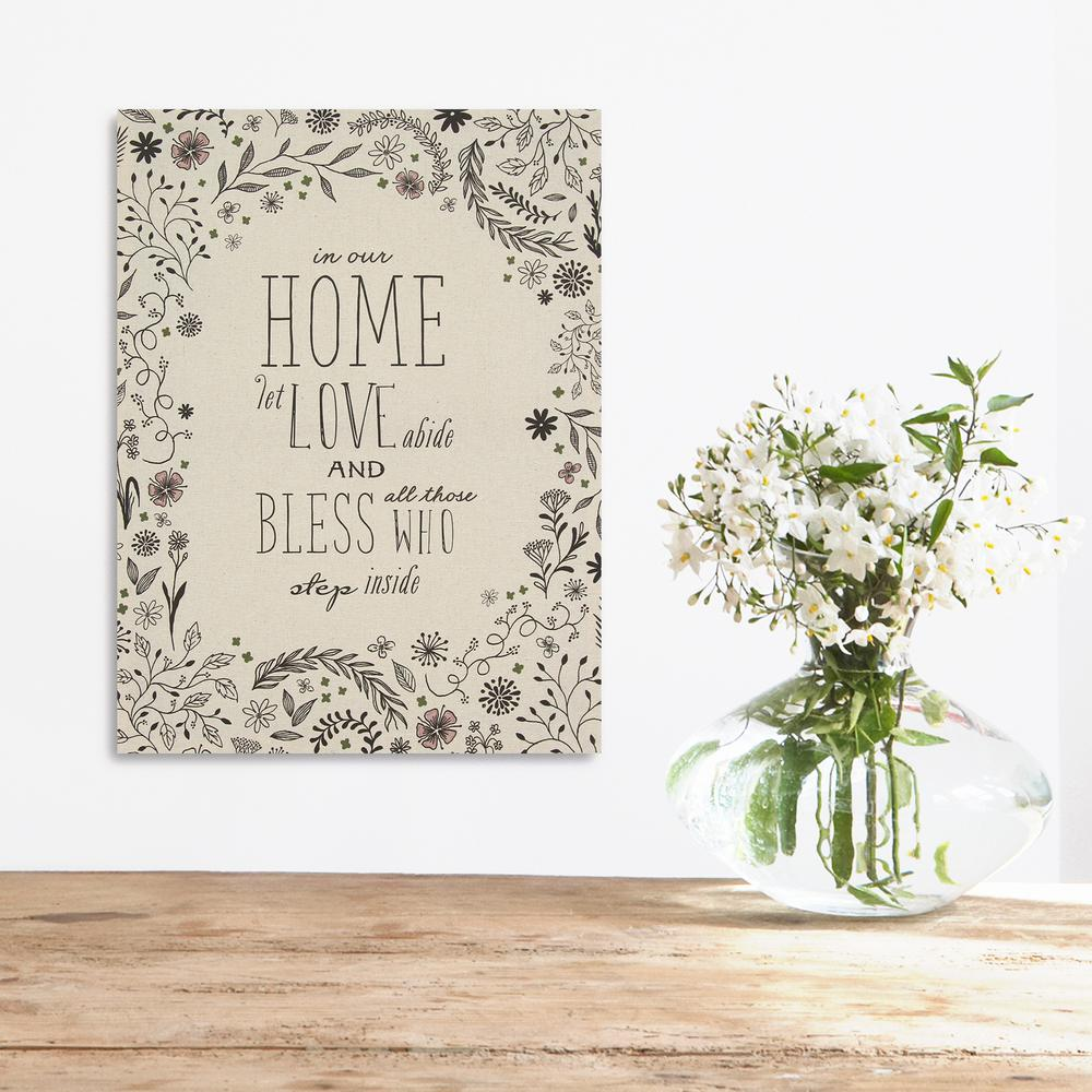 Stratton Home Decor Home And Floral Blessings Wall Art