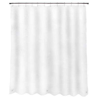PEVA 70 in. x 72 in. White Heavy Weight Shower Curtain Liner