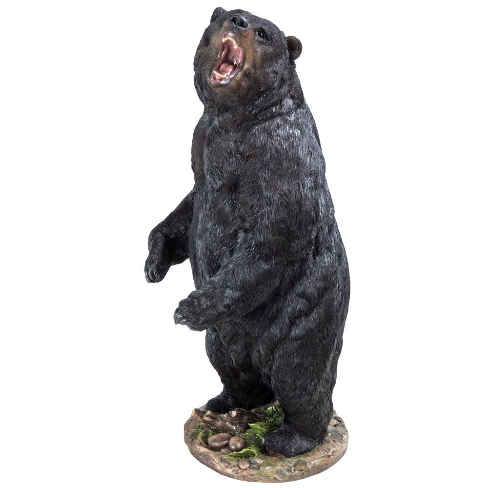 Bear Standing Growling Statue