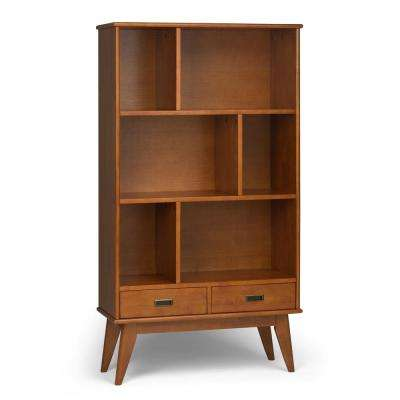 Draper Mid Century Teak Brown Wide Bookcase and Storage Unit  sc 1 st  The Home Depot & Solid Wood - Bookcases - Home Office Furniture - The Home Depot