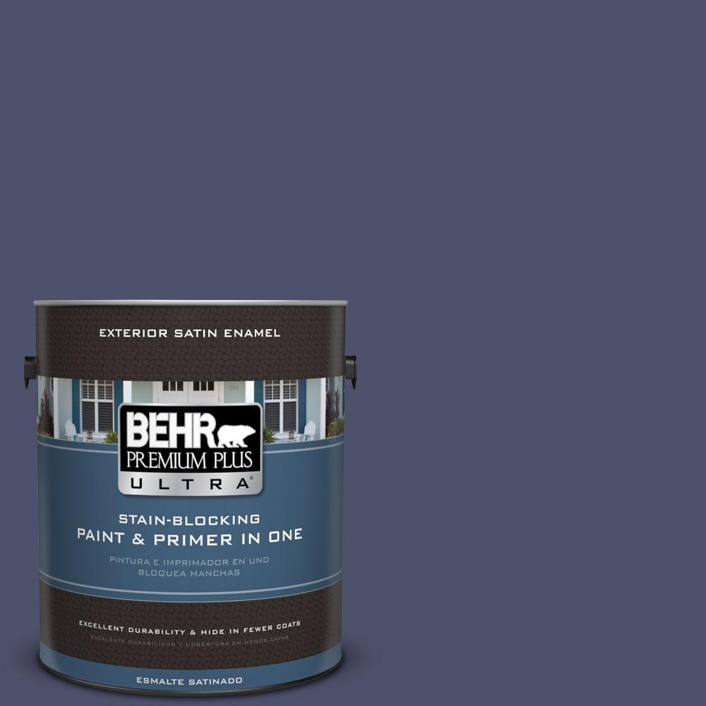 BEHR Premium Plus Ultra 1-gal. #PPU15-18 Vintage Velvet Satin Enamel Exterior Paint