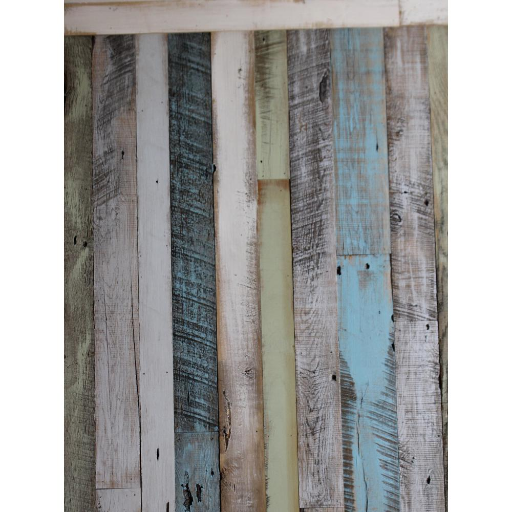 Inject Warmth Into Your Home With Reclaimed Wood Wall: Timeline Wood 11/32 In. X 5.5 In. X 47.5 In. Distressed