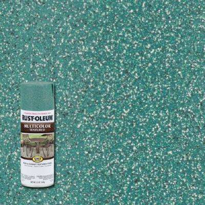 12 oz. MultiColor Textured Sea Green Protective Spray Paint (6-Pack)