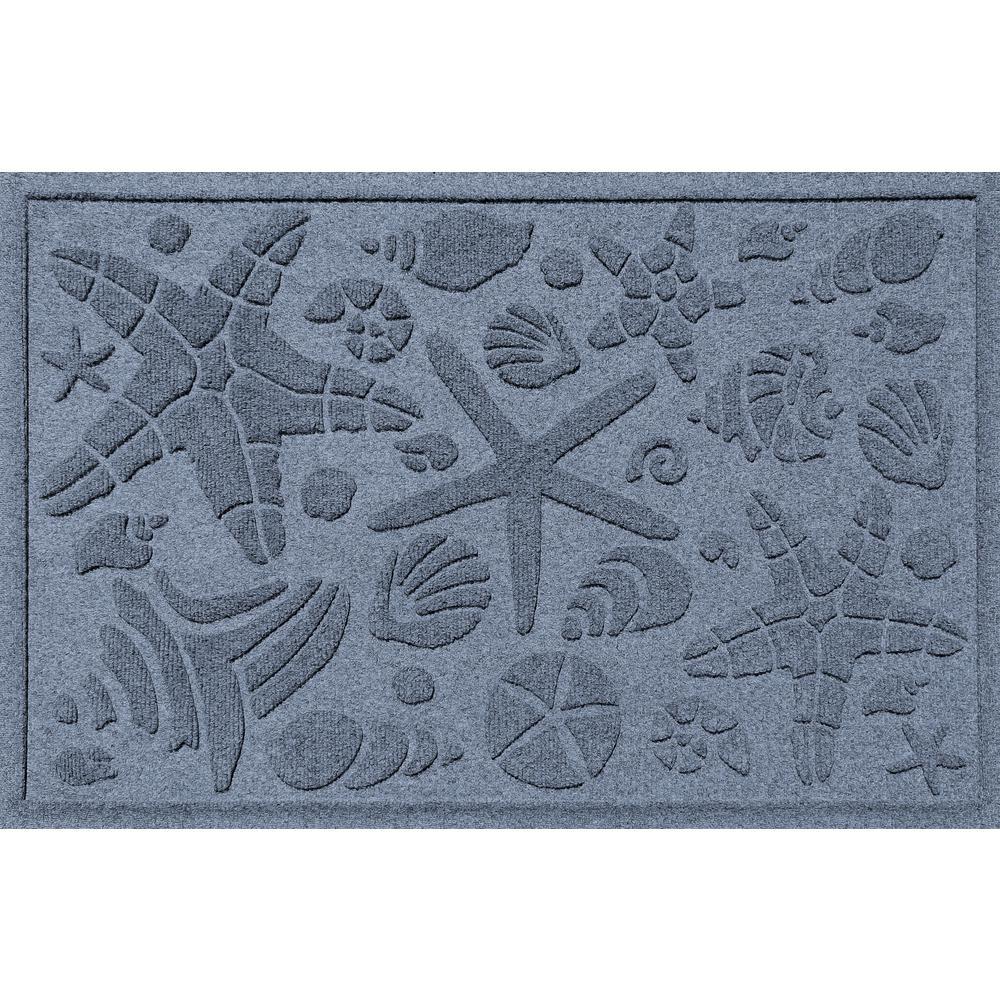 Aqua Shield Bluestone 24 in. x 36 in. Beachcomber Polypropylene Door Mat