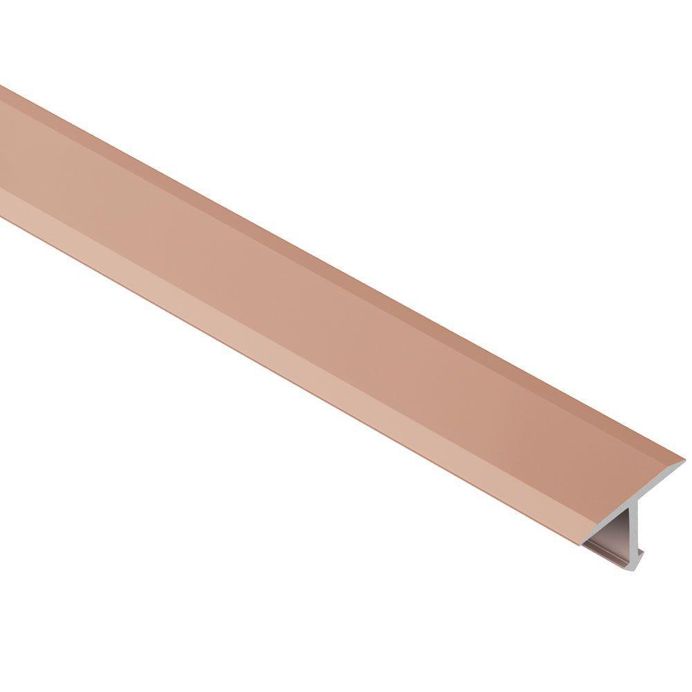 Reno-T Satin Copper Anodized Aluminum 1 in. x 8 ft. 2-1/2