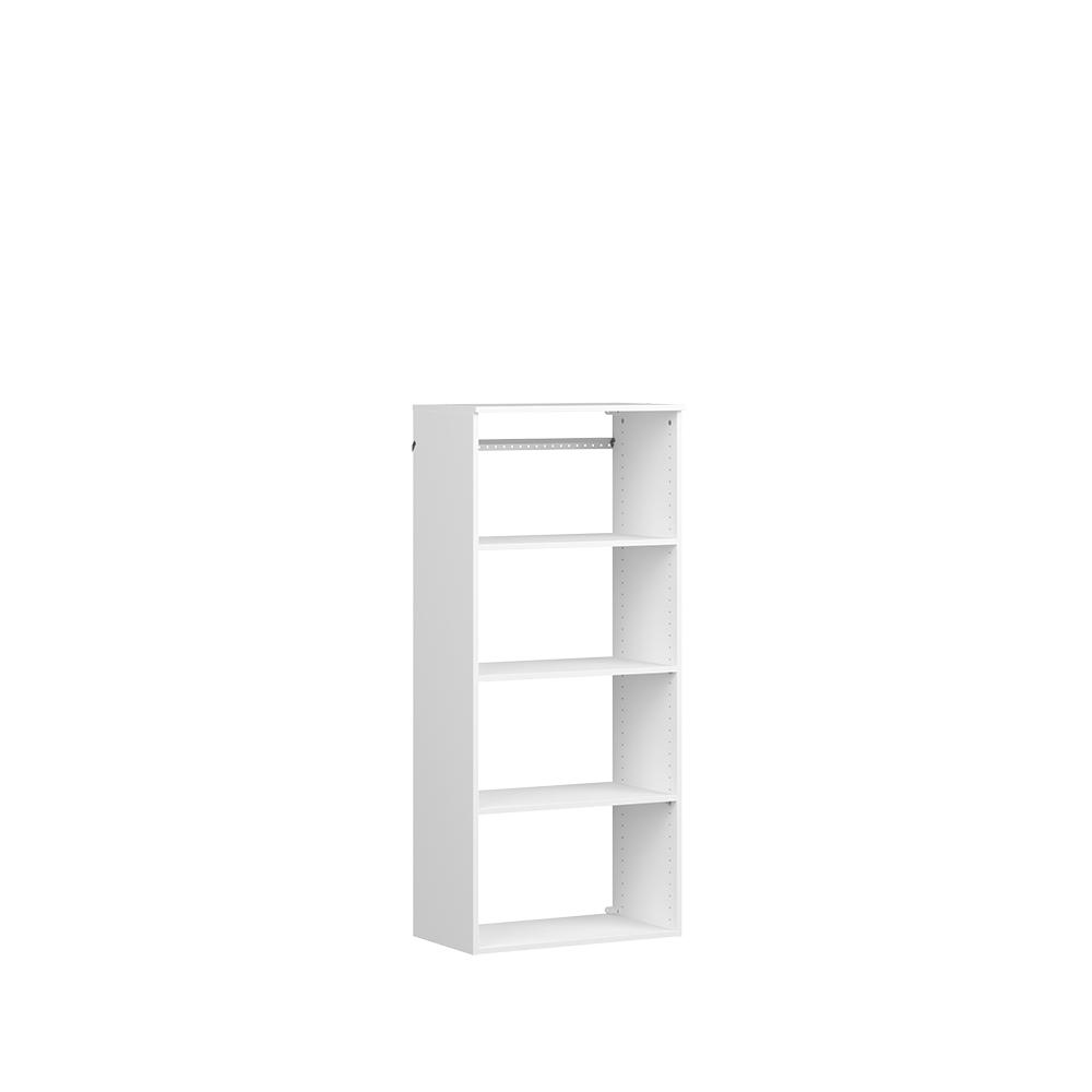 ClosetMaid Style+ 15 in. D x 25 in. W x 56 in. H White Melamine Hanging 5-Shelves Closet System