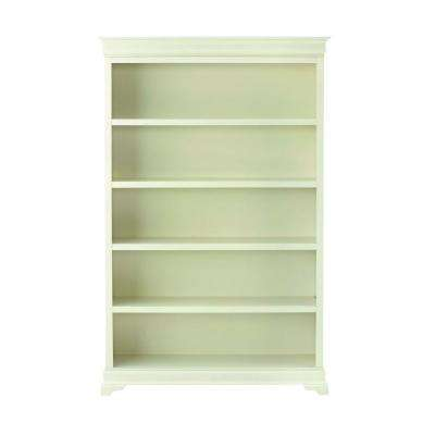 "Louis Philippe Polar White 47.5"" W 5 Shelf Open Bookcase"