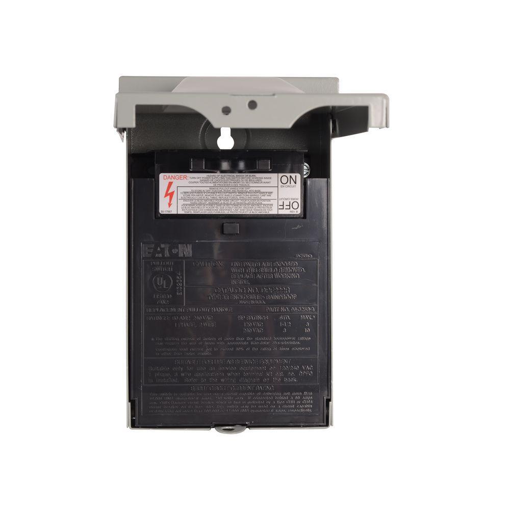 60 amp 120/240-volt 14,400-watt fused air conditioning disconnect