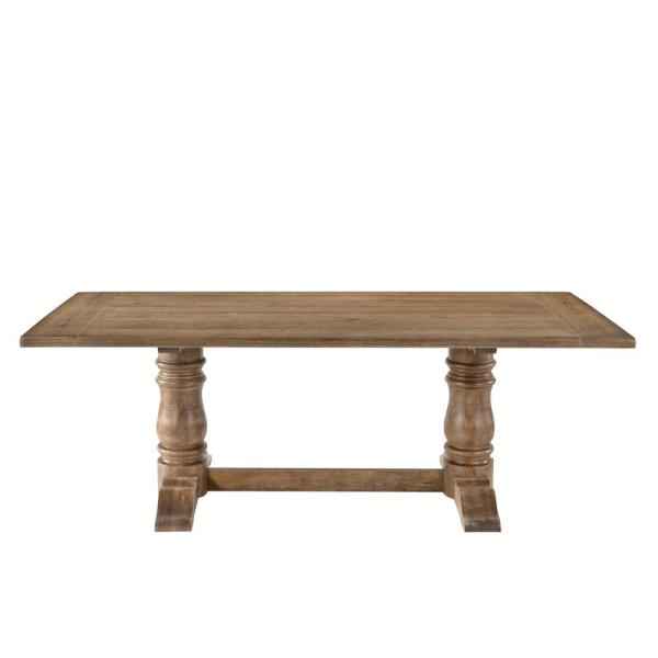 Acme Furniture Leventis Weathered Oak Dining Table 74655
