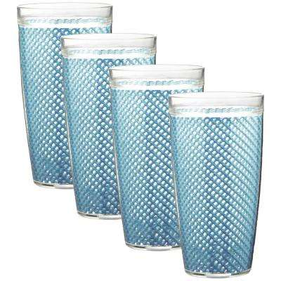 Fishnet 22 oz. Niagara Blue Insulated Drinkware (Set of 4)