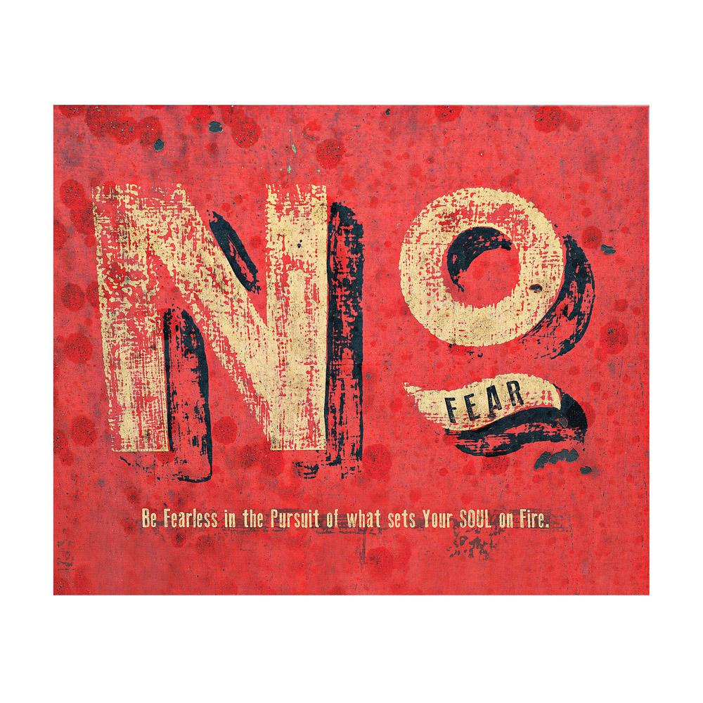 "Simply Inspired ""No Fear"" Canvas by Carpentree Printed Canvas Wall Art"