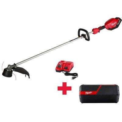 M18 FUEL 18-Volt Lithium-ion Brushless Cordless String Trimmer 9.0Ah Battery Kit W/ Free M18 Radio