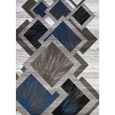 Studio Flash Denim Blue 8 ft. x 11 ft. Oversize Area Rug