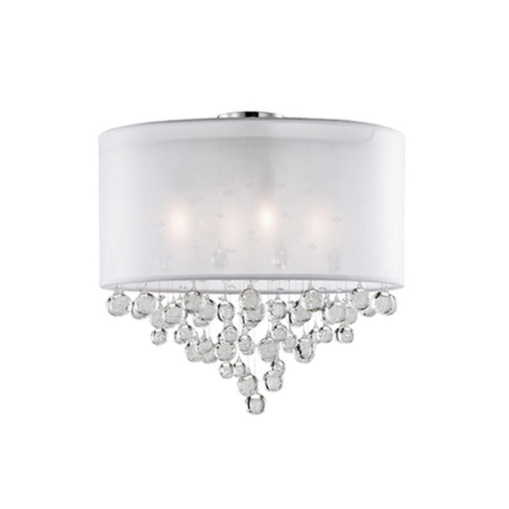 Oxford 4-Light Chrome Semi-Flushmount Light
