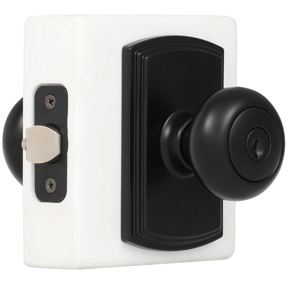 Delaney Italian Collection Santo Black Keyed Entry Door Knob 360604