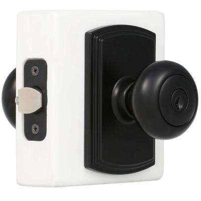 Italian Collection Santo Black Keyed Entry Door Knob