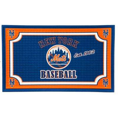New York Mets 18 in. x 30 in. Embossed Welcome Mat