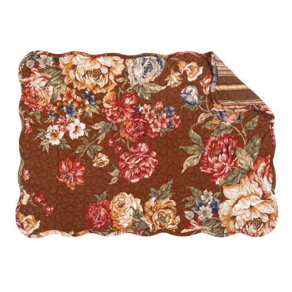 C & F Home Brown Sophia Quilted Placemat (Set of 6)