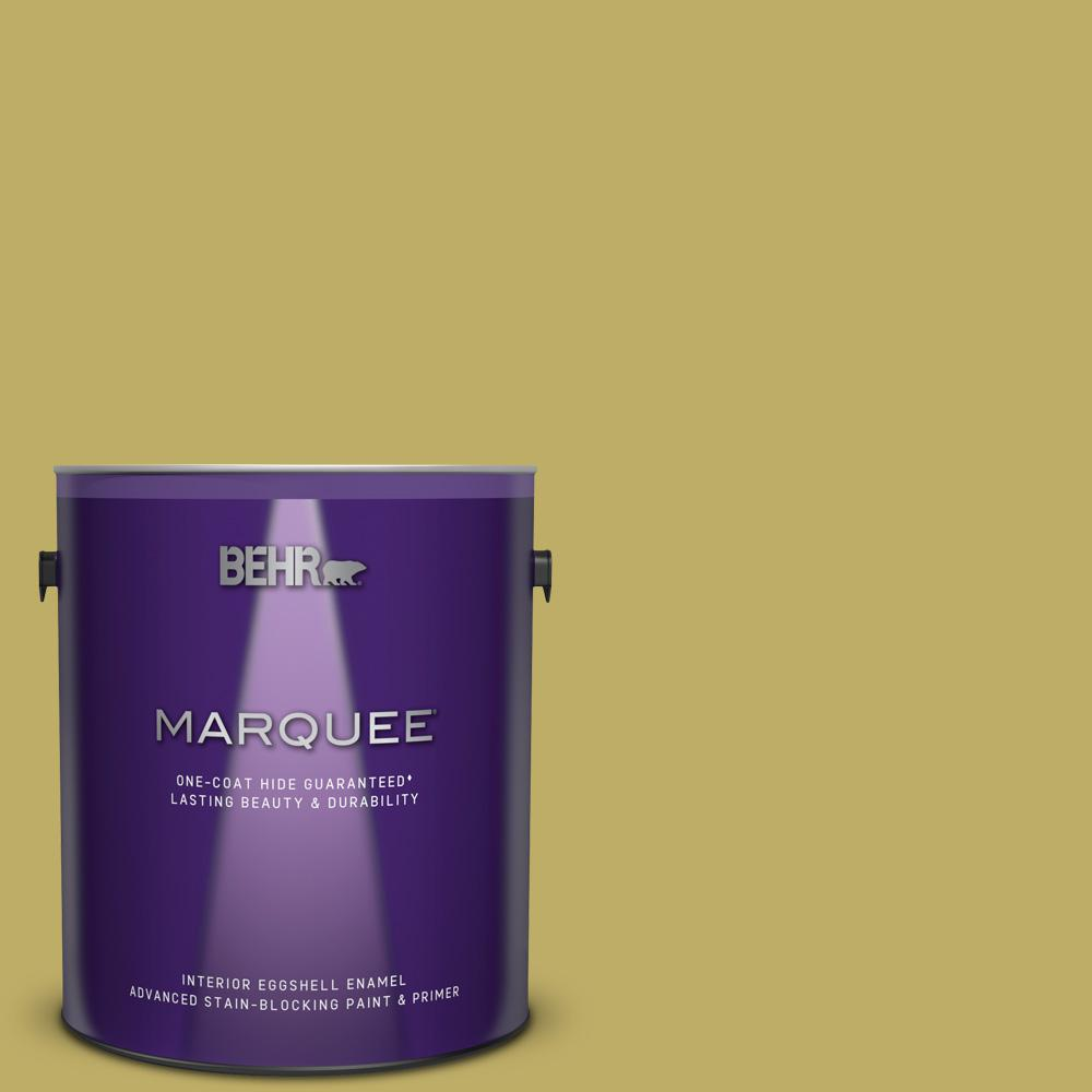 BEHR MARQUEE 1 gal  #MQ4-42 Pistachio One-Coat Hide Eggshell Enamel  Interior Paint and Primer in One
