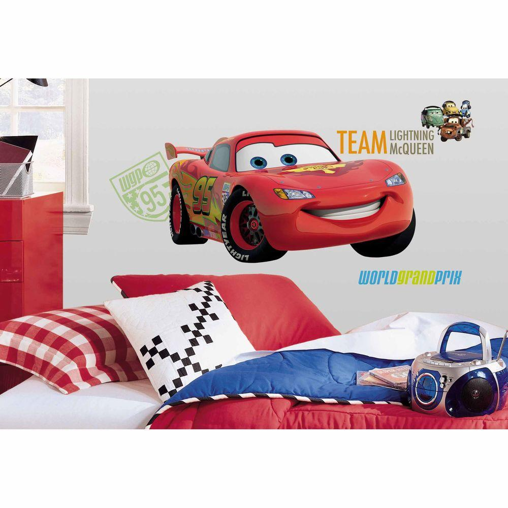RoomMates Cars 2 Peel and Stick Giant Wall Decal  sc 1 st  Home Depot & RoomMates Cars 2 Peel and Stick Giant Wall Decal-RMK1582GM - The ...