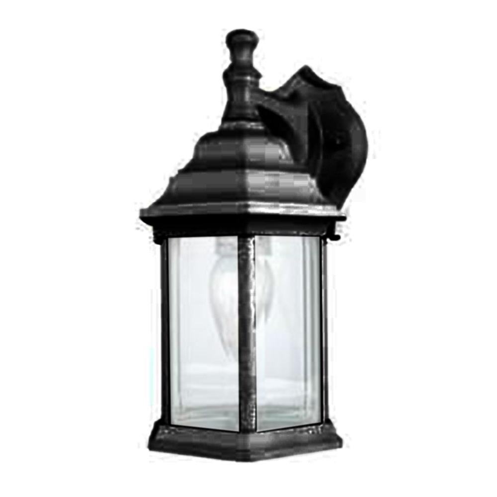 Cortelyou 1-Light Black Outdoor Wall Lantern