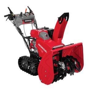 Click here to buy Honda 28 inch Hydrostatic Track Drive 2-Stage Gas Snow Blower with Electric Joystick Chute Control by Honda.