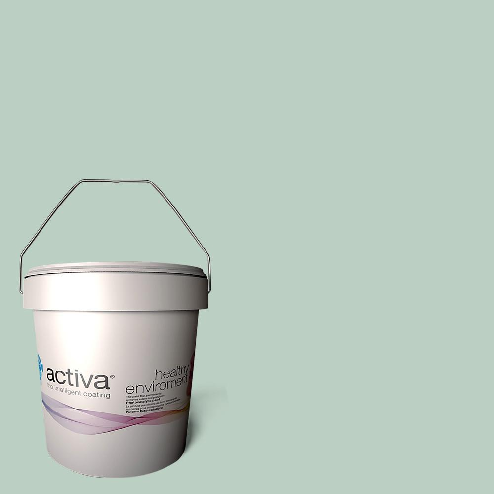Activa 1 gal. Barcelona Blue Latex Premium Antimicrobial Anti-Mold Earth Friendly Self-Cleaning Photocatalytic Interior Paint