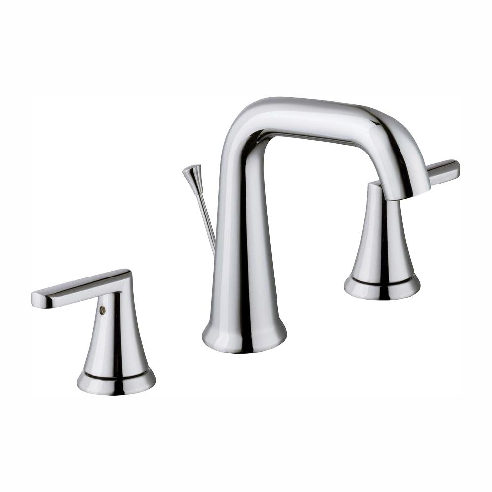 Glacier Bay Jax 8 in. Widespread 2-Handle High-Arc Bathroom Faucet in Chrome