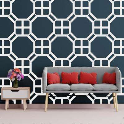 3/8 in. x 39-7/8 in. x 23-3/4 in. Large Johnston White Architectural Grade PVC Decorative Wall Panels